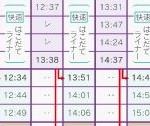 時刻表 上り線