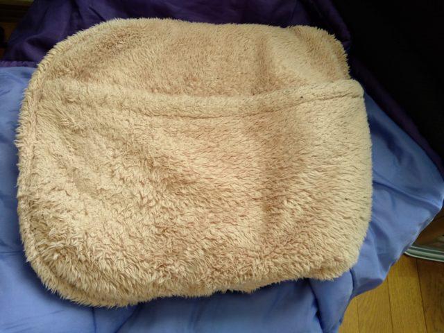 湯たんぽのカバーの写真